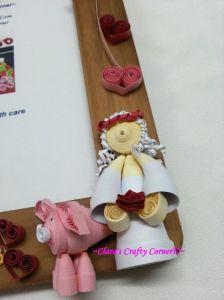 3D Quilling - Bride & piggy